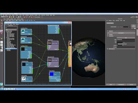 ShaderFX in Maya LT -- Creating an Interactive Planet Shader Part 1