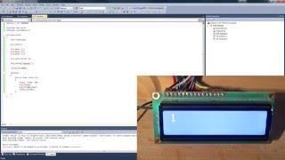 LCD Display ansteuern - Mikrocontroller programmieren in C - AVR C Tutorial - Part 10