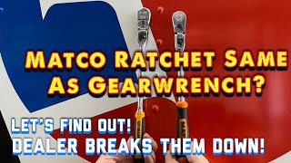 Matco Tools: Is it the same ratchet, just rebranded? Gearwrench VS Matco, let's tear them apart!