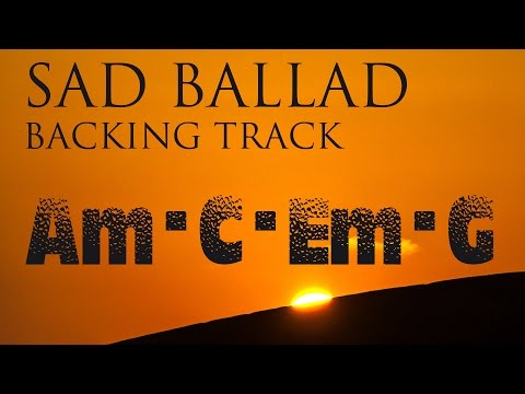 Sad Slow Instrumental Guitar Ballad Backing Track A minor