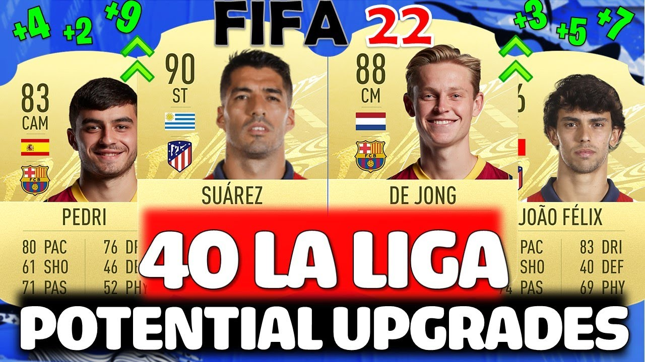FIFA 22 | 40 LA LIGA UPGRADES PREDICTIONS!! FT. SUAREZ, PEDRI, DE JONG ETC... (FIFA 22 UPGRADES)