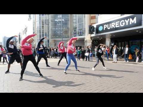 High Street Taken Over By Flash Mob!