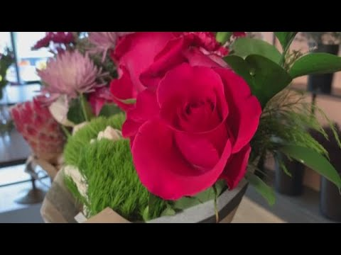 Picking out the perfect Valentine's Day flowers at Blossom Cleveland: A flower bar