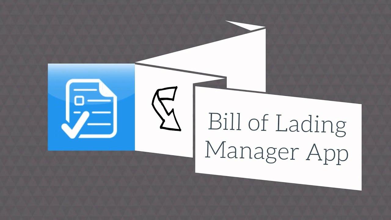 bill of lading app