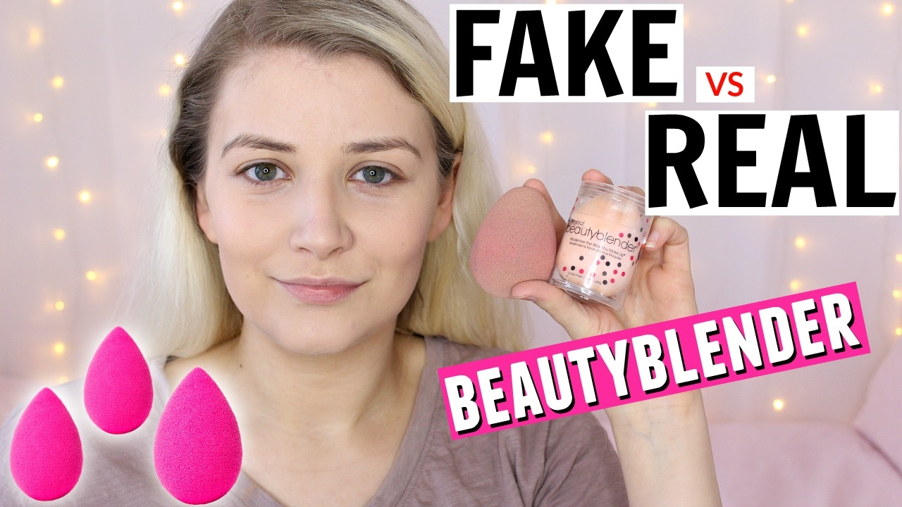 fake vs real beauty blender lucestephenson youtube