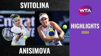Elina Svitolina vs. Amanda Anisimova | 2020 Doha First Round | WTA Highlights