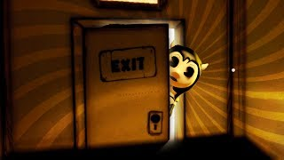 HACKING BEHIND SAMMY AND UNLOCKING THE EXIT!!! - Bendy and The Ink Machine Game Chapter 2 - Pt 10