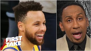 Stephen A. calls Steph Curry the greatest offensive weapon in the NBA | First Take