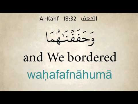 Surat Al Kahf Word by Word with English Translation and Transliteration