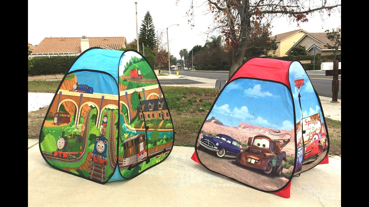 2 Tents of Thomas and Friends with Percy James Toby Disney Cars with McQueen Mater & 2 Tents of Thomas and Friends with Percy James Toby Disney Cars ...