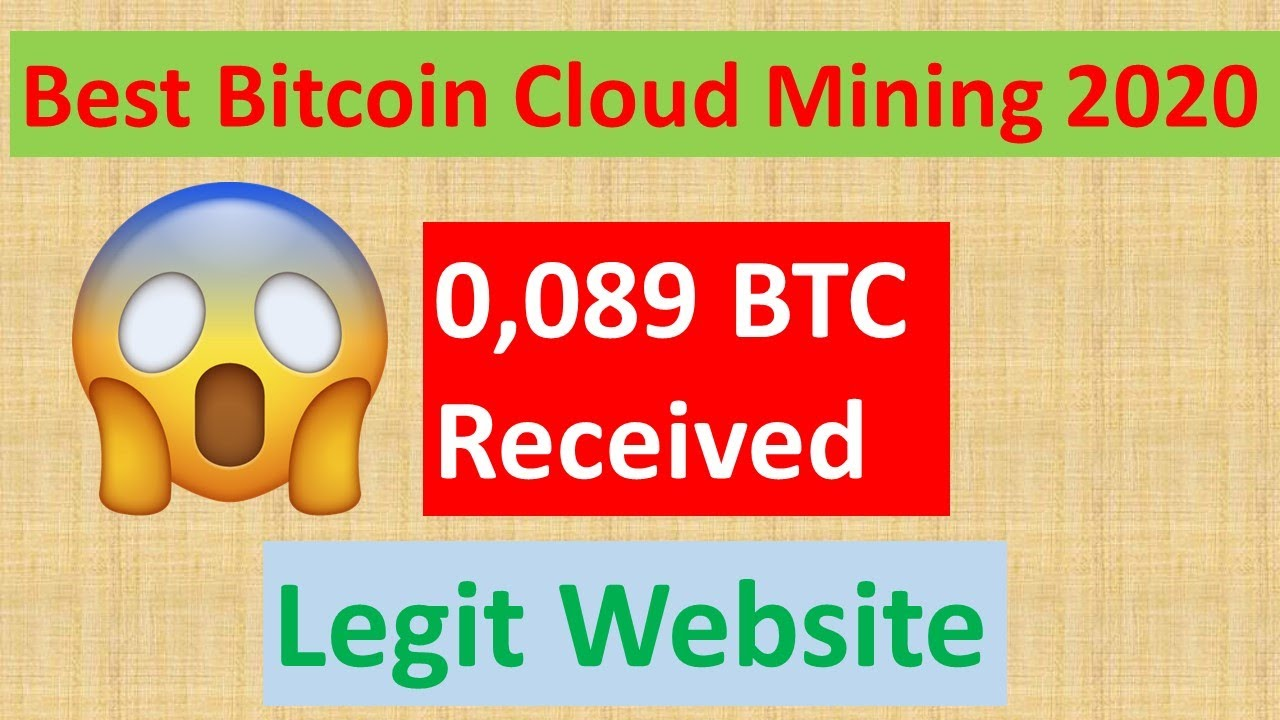0.089 BTC Received From The Best Bitcoin Mining Website 2020 ...