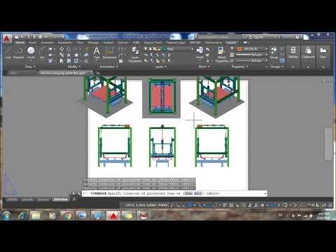video Hướng dẫn chuyển bản vẽ 3D sang 2D Autocad 2016 & Chuyển bản vẽ từ layout sang model