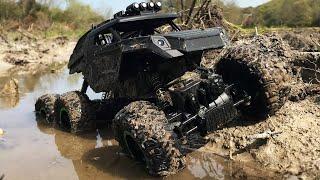 6x6 RC Truck Off Road MUD Bashing - JJRC MAX Q51 D824 6WD Rock Crawler