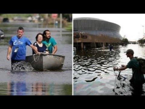 Hurricane Harvey hits Louisiana 12 years after Katrina