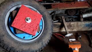 как быстро и бюджетно закрепить утяжелители на колеса к мотоблоку