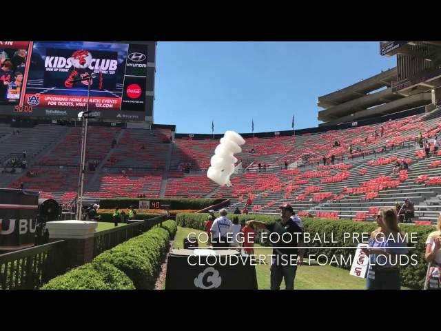 Cloudvertise® Auburn University Pre Game Tradition - Flying Cloud Logos Special Effects
