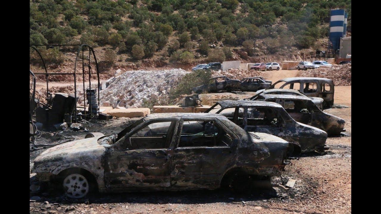 PKK'nın Saldırdığı Şantiye Gün Ağarınca Hasar Ortaya Çıktı