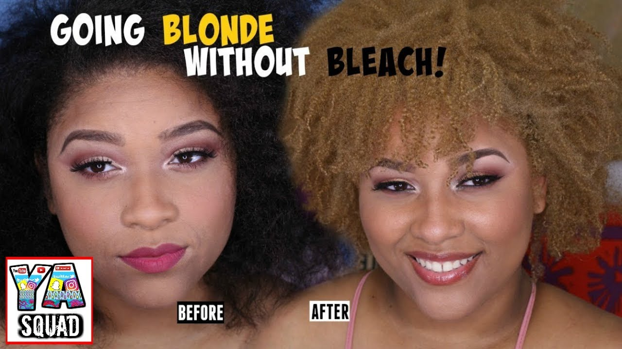 How I Dyed My Hair Blonde Without Bleach Youtube