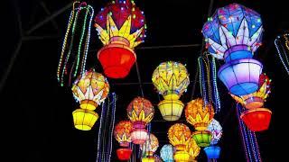 Шоу китайских фонариков 3. Светящиеся фигуры. Литва. | Chinese Lanterns Color Show. Lithuania