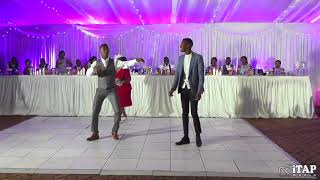 Granny does 'Mans not hot' freestyle at wedding