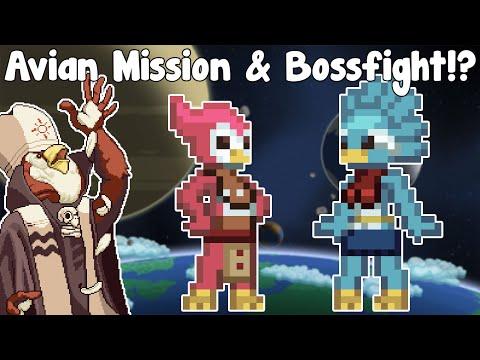 Starbound Guide Nightly - Avian Recruitment Mission & Bossfight! - GullofDoom