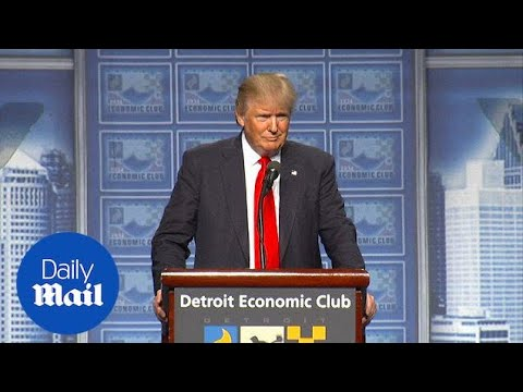 Donald Trump's Detroit rally interrupted 14 times by protests - Daily Mail