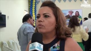 Pérsia Rebouças foi homologada vice-prefeita do Dr Anchieta na convenção do PSL, PAN e PTC.