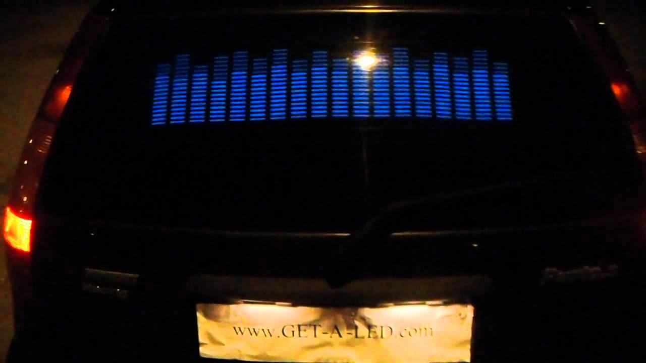 equalizer auto aufkleber auto mit led equalizer youtube. Black Bedroom Furniture Sets. Home Design Ideas