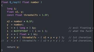 Fast Inverse Square R๐ot — A Quake III Algorithm