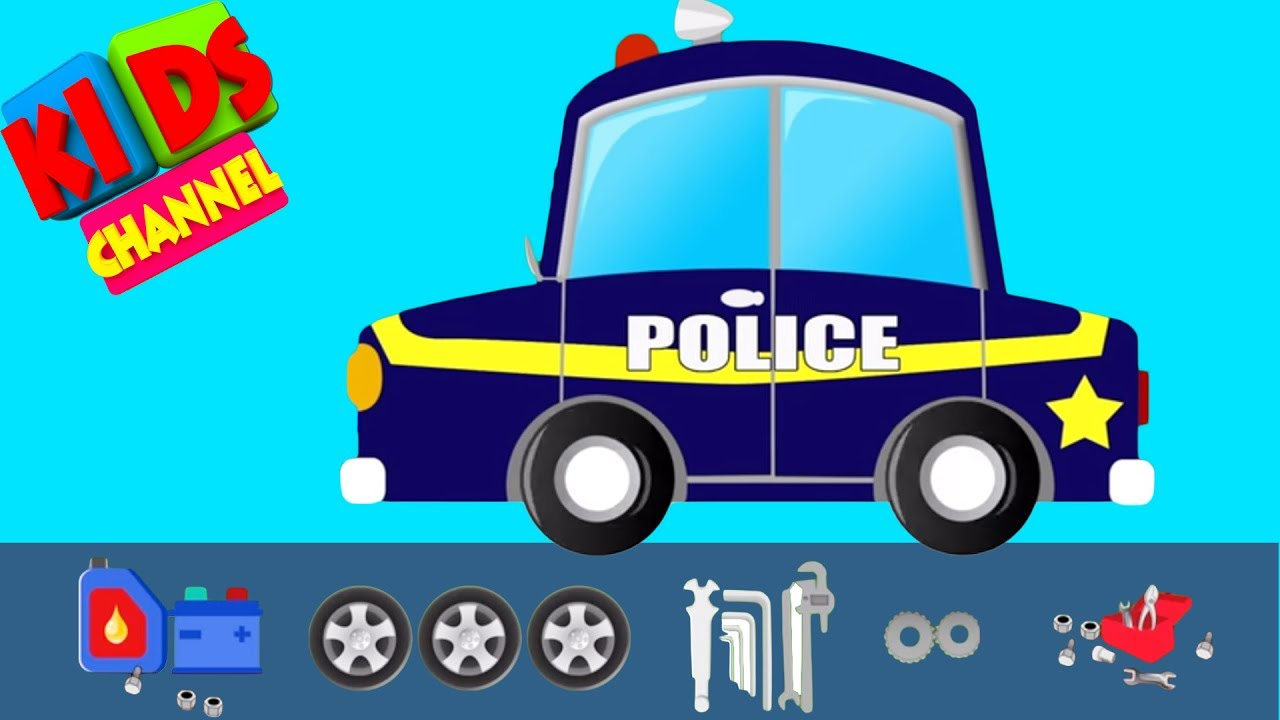 Police Car Chase |  Police Vehicle Service | Video For Kids