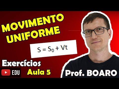 MOVIMENTO UNIFORME  CINEMÁTICA   EXERCÍCIOS   Prof  Marcelo Boaro - AULA 5
