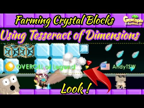 Growtopia | Farming Crystal Blocks Using Ancestral Tesseract of Dimensions Look What We Got !?