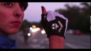Zackees LED Turn Signal Bike lights in a cycling gloves...