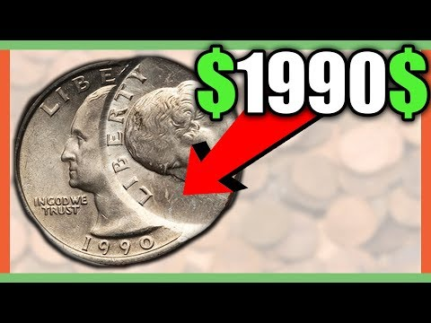 WHAT IS A 1990 QUARTER WORTH? RARE ERROR QUARTER WORTH MONEY