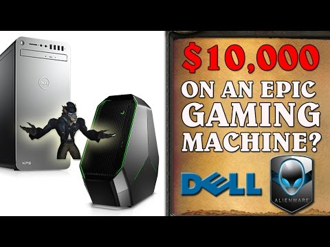 $10,000 EPIC Gaming Rig Build & Review - Dell + Alienware!