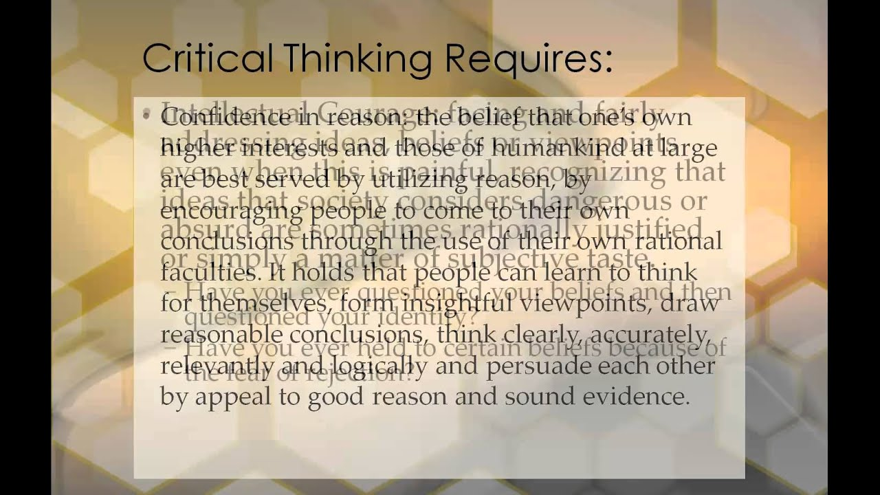 Critical Thinking and the Educated Person - YouTube