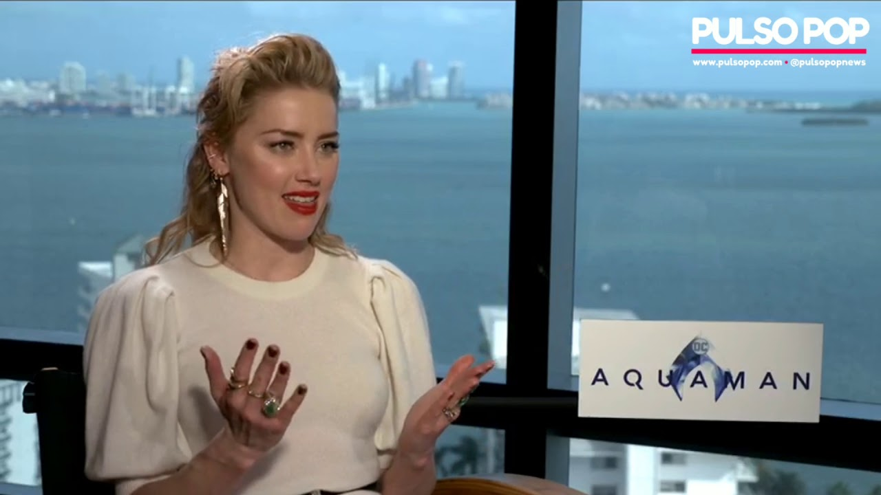 Aquaman   Amber Heard speaks perfect Spanish during movie interview