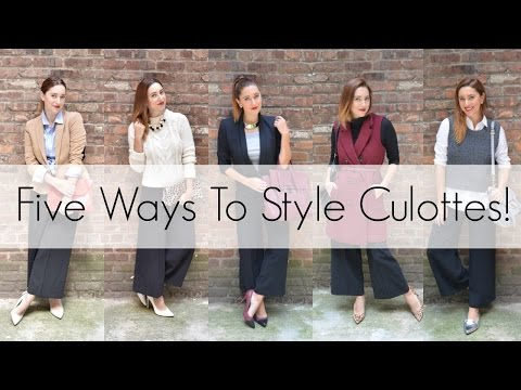 FIVE WAYS TO STYLE CULOTTES! | MyStylePill