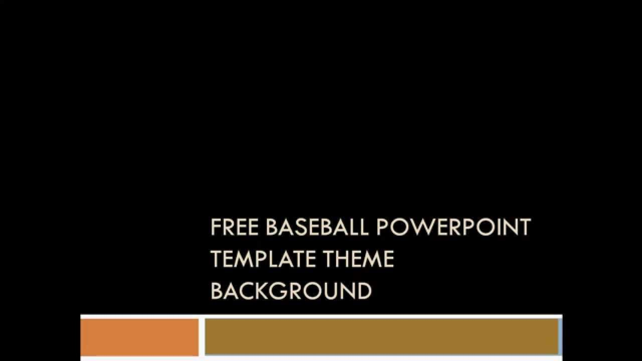 free baseball powerpoint template - sport theme background to, Powerpoint templates