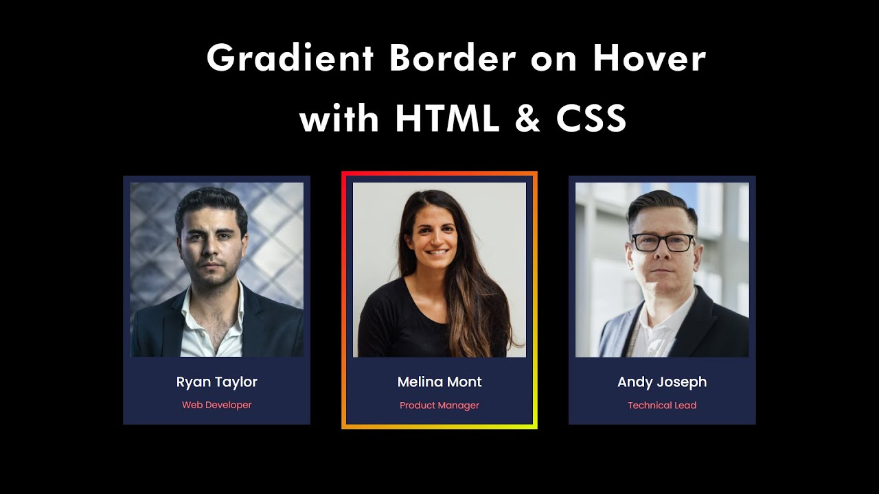 How To Make Animated Gradient Color Border on Website Using HTML & CSS