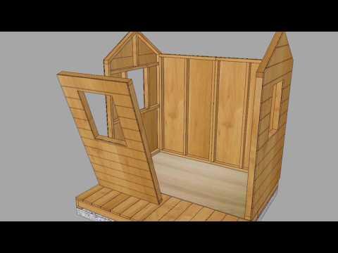 Little Cedar Playhouse with Sandbox - Toddler Playhouse - OLT