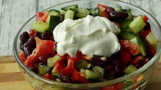 Как сделать салат с фасолью и сладким болгарским перцем
