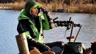 ЗИМОЙ на ВОДОХРАНИЛИЩЕ Ловля фидером Рыбалка на открытой воде 148