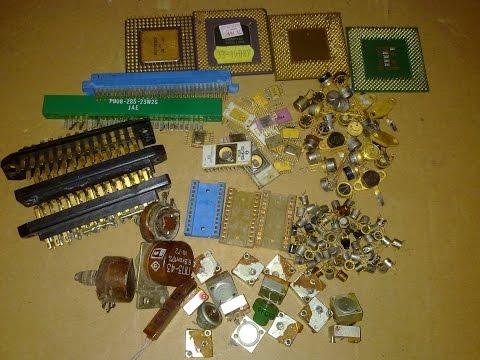 как получиь золото из микросхем без опыта, обучение