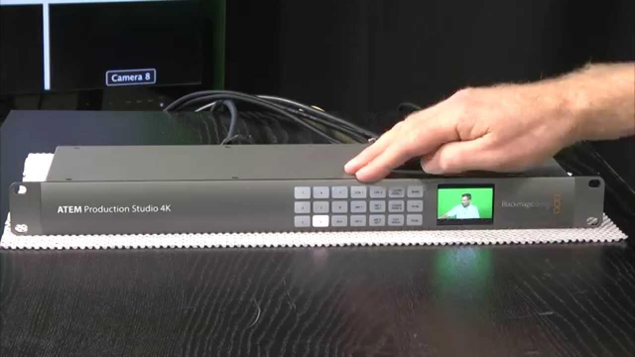 StudioTech 110 - Blackmagic ATEM 4K switchers: Part 2 of 3 ATEM Production  Studio 4K
