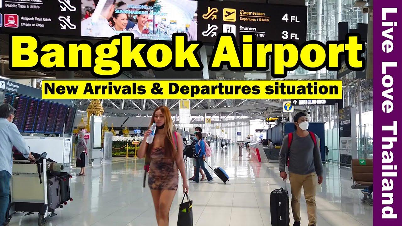 Bangkok Airport | New Arrivals \u0026 Departures situation #livelovethailand