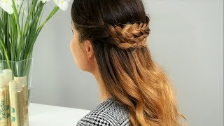 Jak zrobić warkocz z rozpuszczonymi włosami do pracy? Tutorial Hair Coach Wella Academy Polska