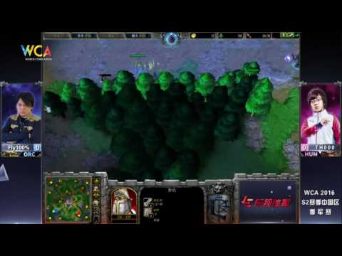 WCA2016 Pro S2 Warcraft III 3rd Place Fly100% VS TH000