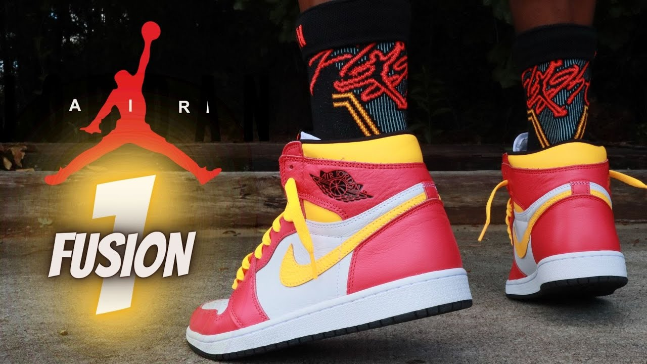 JORDAN 1 LIGHT FUSION RED REVIEW & ON FEET W/ LACE SWAPS!!