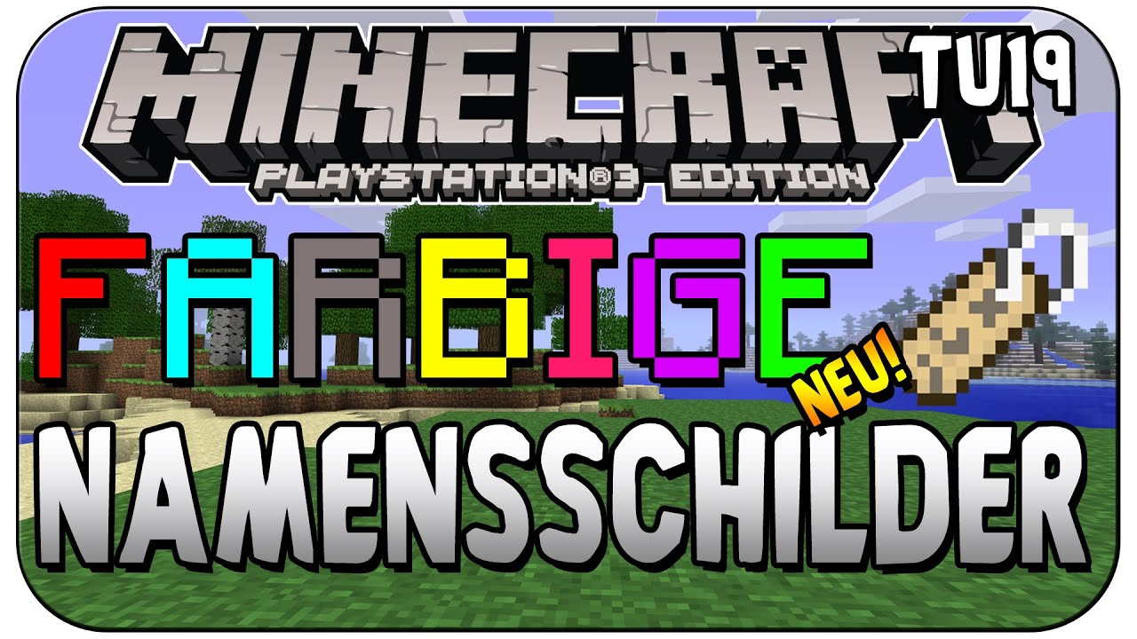 Minecraft PS3/PS4 Edition - farbige Namensschilder ...